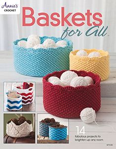Baskets for all is full of wonderful crochet basket patterns that make great gifts, and also can help with your yarn and crochet project organization!