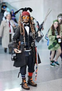 Somebody went to incredibly great lengths to get all the costume pieces together to cosplay as every Johnny Depp character.