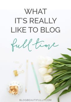 Ever wondered what the daily routine of a full time blogger is like? Here's a sneak peek at my schedule! From blogbeautifully.com