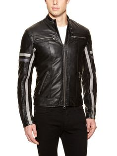 Coated Motorcycle Jacket by Armani Jeans 35f6467b4