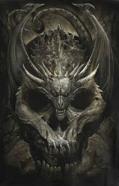 Found another badass piece of dragon gothic art so dark and powerful love it . Monster Tattoo, Medieval Dragon, Celtic Dragon, Ange Demon, Demon Art, Skull Pictures, Dragon Pictures, Dark Fantasy Art, Medieval Tattoo