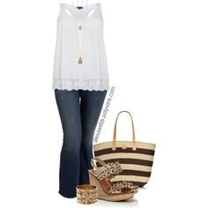 """#plus #size #plussize """"Plus Size - Casual Cool"""" by alexawebb on Polyvore"""
