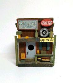 Coca Cola Birdhouse General Store Wood Rustic Decor Bird House Vintage NEW #Unbranded