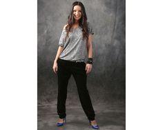Velvet pants & casual blouse  YOKKO   spring17 #casualoutfit #pants #blouse #grey #spring #woman #fashion #style #yokko