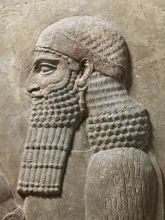 """Neo-Assyrian Relief of a Dignitary, Dur-Sharrukin, Late 8th Century BCDur-Sharrukin (""""Fortress of Sargon""""), present day Khorsabad, was the Assyrian capital in the time of Sargon II of Assyria. The great city was entirely built in the decade..."""