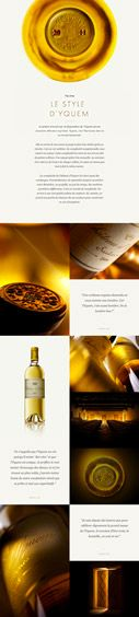 This beautiful and elegant website features a golden and white website. This site features beautiful and high-res pictures that capture the elegance it's trying to give off. Pages include simple images of their alcohol and short blips on the side. The site is sophisticated and well put together.