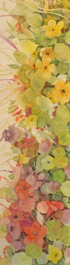 Watercolors, Florals, Artsy, Paintings, Colours, Water Colors, Green, Floral, Paint