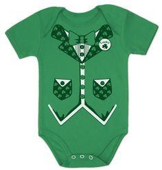 Irish Tuxedo Baby Onesie