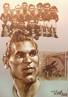 Korat, Goalkeeper, Hungary, Soccer, 1, Cartoon, History, Portrait, Budapest