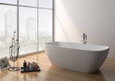 A SIKO szabadon álló öntött márvány kádja fürdőszobája dísze lehet. A kellemes, lekerekített dizájnnak köszönhetően barátságos, modern hatást kelt. Élvezze a fürdőzést a kényelmes és stílusos Laguna Evelyn kádban! 🛀  #siko #lagunaevelyn #fürdőszoba #kád #lakberendezés #palatinusfürdőszoba Whirlpool Bathtub, Solid Surface, Bathroom Accessories, Basin, Faucet, Modern Design, Flooring, Luxury, Furniture