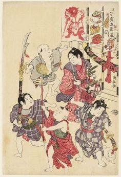 Torii Kiyonaga (1752-1815), The Boys' Festival, from the series Precious Children's Games of the Five Festivals (Kodakara gosetsu asobi) (1801) #tango_no_sekku