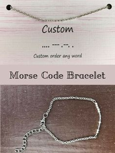 I Love To Give Unique Gifts This Morse Code Bracelet Fits The Bill Pretty
