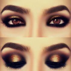 Smokey Bronzey Eye Makeup