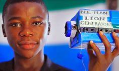 Maria Preta: Conheça o jovem gênio de Serra Leoa que constrói aparelhos eletrônicos com o que encontra na lixeira