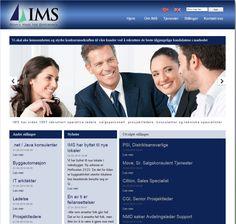 Dette er nettsiden til rekrutteringsbyrået IMS.   De har brukt Idium Web+. Website, Design