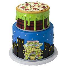 Retro Teenage Mutant Ninja Turtles Pizza Drip Cake