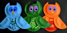 Paper Plate Owls in Ca-hoots