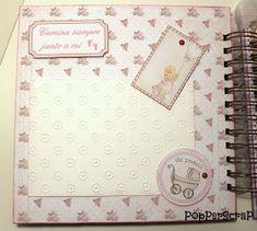 PopPerScraP: Álbum bebe Dayka niña Album Scrapbook, Baby Album, Big Shot, Baby Shower, Scrapbooking, Aurora, Craft, Ideas, Paper