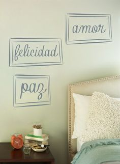 1000 images about frases vinilo on pinterest frases for Vinilos dormitorio
