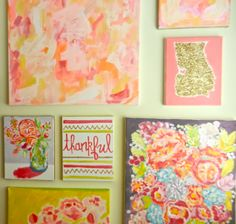 Evelyn Henson | Original Paintings and Print Designs, DIY glitter state canvas