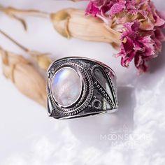 Moonstone Ring - Cosmic Love