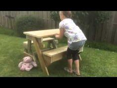 TipTop kinder Picknicktafel & bank 2in1