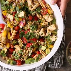 Mayo Pasta Salad Recipes, Veggie Pasta Recipes, Vegetarian Pasta Salad, Healthy Pasta Salad, Easy Pasta Salad Recipe, Healthy Pastas, Healthy Salad Recipes, Rice Recipes, Pasta Side Dishes