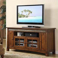 Riverside Furniture Craftsman Home 62 Inch TV Stand in Americana Oak ** Visit the image link more details.