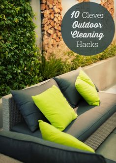 10 Clever Outdoor Cleaning Hacks - get your outdoor space clean and organized with these simple diy tips!