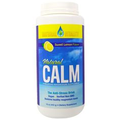 Natural Vitality, Natural Calm, Sweet Lemon Flavor, 16 oz (453 g)  #stress #formula #support #balance #management #iherb #thingstobuy #shopping #relief