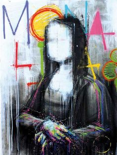"""Graffiti"""" Zest presents a selection of paintings in the gallery West Pier, Concarneu, France."""
