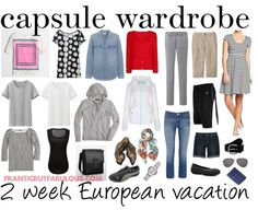 capsule wardrobe: 2 week European vacation