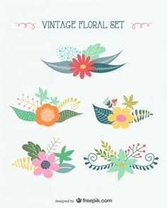 Floral decoration collection  *Free Vector