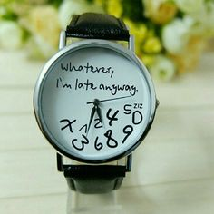 """Already Late Watch (Nwot) Brand new without tags! Working battery, 9"""" faux leather band. Accessories Watches"""