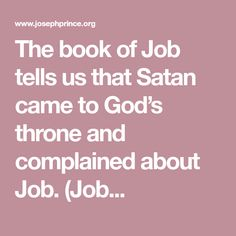 the book of job is god The characters in the book of job consist of job, his wife, his three friends (bildad, eliphaz, and zophar), a man named elihu, god, and angels it begins with an introduction to job's character—he is described as a blessed man who lives righteously in the land of uz.