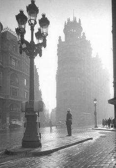 Via Laietana años 40, Barcelana (España).