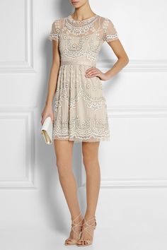 Needle & Thread | Embellished tulle mini dress | NET-A-PORTER.COM