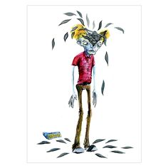 The Bradster - Doppelganger Print By Alex Pardee.