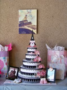 1000+ images about Diaper cakes on Pinterest | Diaper ... |Eiffel Tower Diaper Cake