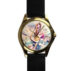 New Year GiftsChristmas Gifts Beautiful Music Notes Unisex Goldtone Round Metal Watch ** Click image for more details.