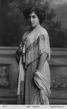 Lily Langtry, Stage Actress (1853-1921) Born in Jersey, Channel   Islands. Real name was Emilie Charlotte Le Breton. Well known as   the royal mistress of the Prince of Wales, Albert Edward.