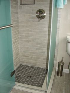 Glass Enclosed Shower With Neutral Tile Work. I Like, But Add The Tub Into  And An Extra Shower Head Ahhh Great :) | For My Home :) | Pinterest |  Neutral, ...