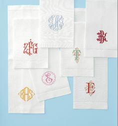 Monogram luxury linens, bed linens & sheeting,bath linens and monogram bath towels,table linens and guest towels embroidered from our wide selection of designs. Monogrammed linens for the bed, bath and table. Monogram Design, Monogram Fonts, Free Monogram, Monogram Letters, Embroidery Monogram, Embroidery Designs, Embroidery Fonts, Custom Embroidery, Monogram Bedding