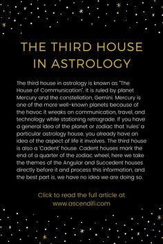 Our communication center, the lower mind, perception and interaction with our environment, connections Astrology Planets, Learn Astrology, Astrology And Horoscopes, Astrology Numerology, Astrology Chart, Zodiac Signs Astrology, Zodiac Facts, Astrology Houses, Witches