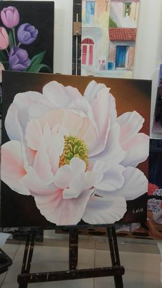 (notitle) – Galina Cliovan – Join the world of pin Acrylic Painting Flowers, Large Painting, Art Floral, Flower Sketches, Painting Inspiration, Flower Art, Watercolor Art, Art Projects, Artwork
