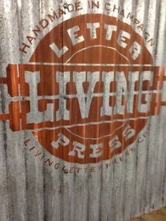 Creating a vintage-looking sign on corrugated steel siding Corregated Metal, Corrugated Tin, How To Make Metal, Steel Siding, Build A Table, Barn Siding, Aging Metal, Welding Table, Farm Stand