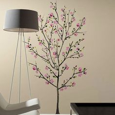 Room Mates 33 Piece Deco Blossom Tree Peel and Stick Giant Wall Decal Set