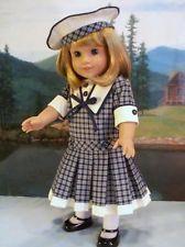 Navy Plaid Dress & Beret by drommer0 via eBay $32.00 ends 7/2/13