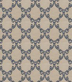 Eaton Square Print Fabric-Fraternity/Midnight