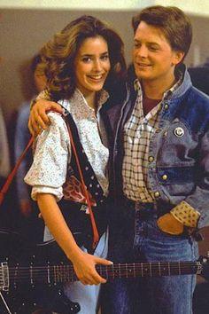 Claudia Wells and Michael J. Fox